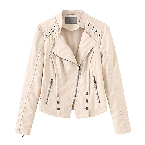 DISCOUNTL Damen Lederjacke Lederjacke kleine Jacke Motorradbekleidung dünne jacken Damen rote Jacke Damen Damen Leder jacken Bomber Jacke Damen Lederimitat Jacke Damen