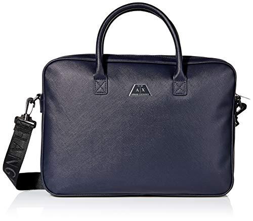 Armani Exchange Herren Logo Briefcase Henkeltasche Blau (Navy)