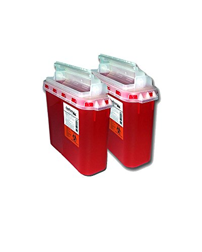 BD 5.4 Qt Stye Sharps Disposal Container (2 Pack) by Oakridge Products. Touchfree Rotating Lid