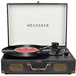 in budget affordable Portable 3-speed wireless turntable with built-in turntable speaker …
