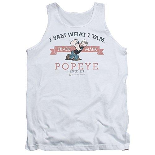 Popeye - - Débardeur vintage pour hommes, XX-Large, White