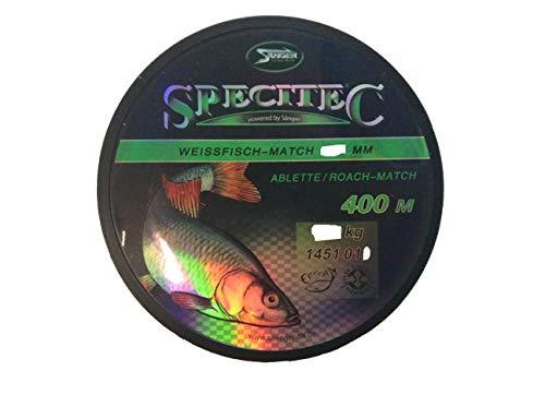 Specitec Weissfisch - Match Schnur 0,15 mm -Farbe : Ultra Clear Transparent - Angelschnur monofil Zielfischschnur