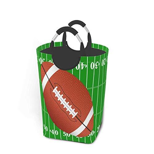 Cancha de fútbol americano Cestas de almacenamiento Cesto flexible para ropa sucia Bolsa organizadora ecológica Carro clasificador extraíble Lugar seguro para el dormitorio Apartamento Lavandería Lava
