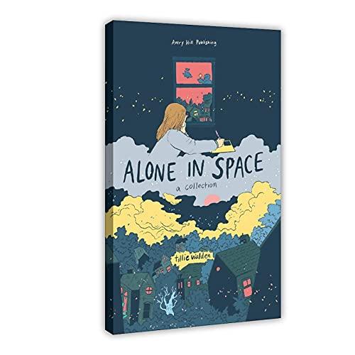 Tillie Walden Poster sur toile Alone in Space A Collection par Tillie Walden Décoration murale pour salon, chambre à coucher 60 x 90 cm