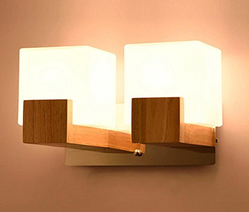 Applique en bois créative chinoise moderne minimaliste chambre lampe de chevet luminaire, pas contenir ampoule
