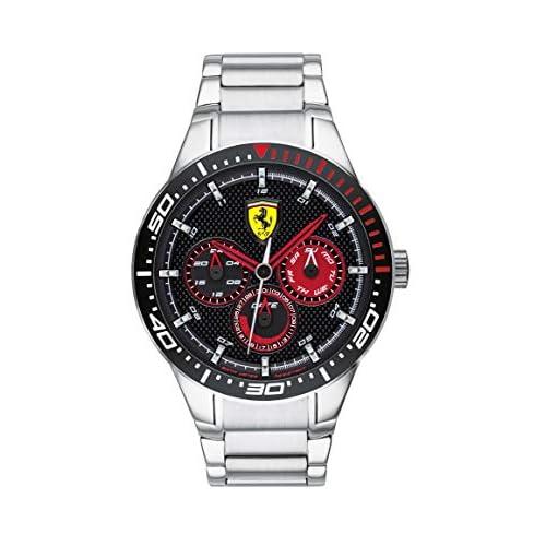 Scuderia Ferrari Orologio Multi-quadrante Quarzo Uomo con Cinturino in Acciaio Inox 830589