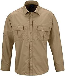 Propper Men's Kinetic Long Sleeve Shirt, Khaki, X-Small/Regular