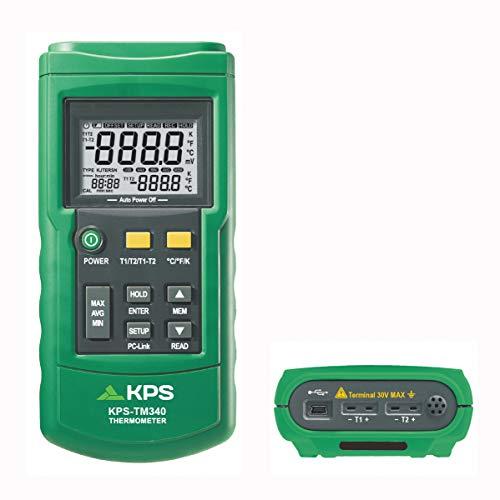 KPS-TM340 TERMÓMETRO DIGITAL 2 CANALES Y REGISTRO