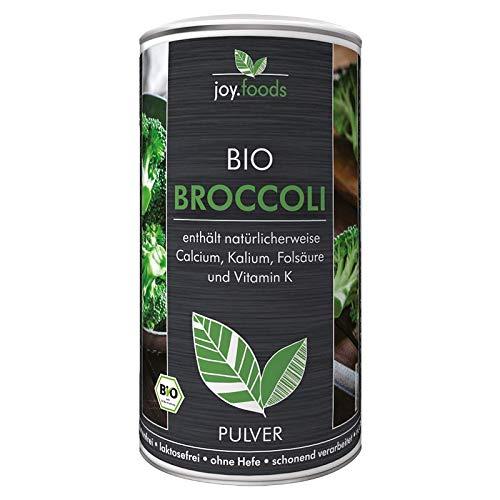 joy.foods Bio Broccoli Pulver, enthält natürlicherweise Calcium, Kalium, Folsäure und Vitamin K, laborgeprüfte Qualität aus Deutschland, 230 g