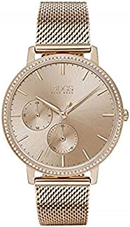 Hugo Boss Womens Quartz Watch, Analog Display and Stainless Steel Strap 1502519