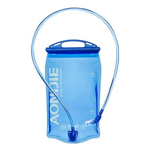 Win.Deeper 1.5/2/3L Bolsa De Agua para Mochila Hidratación depósito de Agua de vejiga de hidratación para Ciclismo Senderismo Excursionismo Camping (1L)