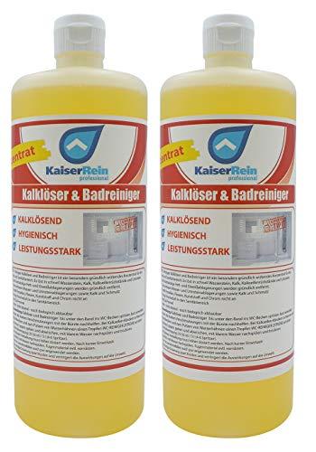 KaiserRein Kalk & Badreiniger Sanitärreiniger extra stark der Unterhaltsreiniger im 2 x 1 l Spar Set Profi