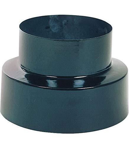WOLFPACK 22010950 Reducción Estufa Vitrificado Color Negro de 120 a 100mm