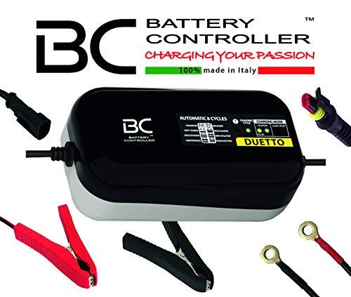 BC DUETTO - 12V 1,5A - Automatisches Batterieladegerät und Erhaltungsgerät für Blei-Säure-Batterien und Lithium-/LiFePO4-Batterien