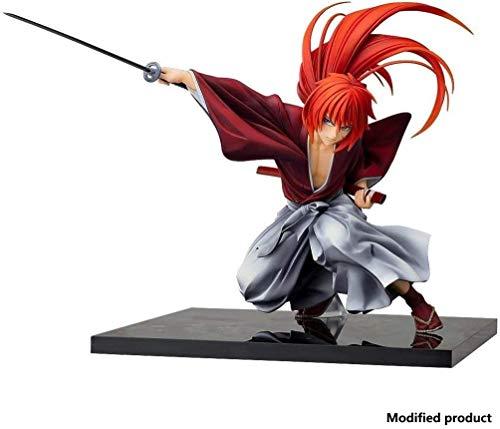 Xungzl Rurouni Kenshin: Meiji Swordsman Romantic Story: Himura Kenshin Handsome Sword Posture, PVC Anime Cartoon Game Character Model Statue Figure Toy Collectibles Decorations Gifts