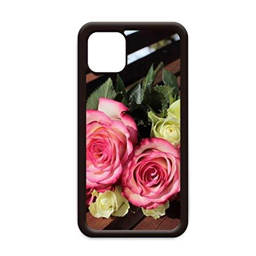 Roze Wit Bloemen Mooie Bank voor Apple iPhone 11 Pro Max Cover Apple Mobiele Telefoonhoesje Shell, for iPhone11 Pro