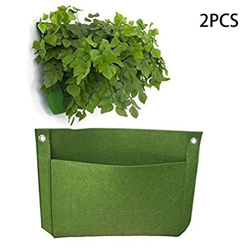 SHOH 2 zakken, verticale tuin plantenbak plant wandhanger met potten voor binnen, buiten, thuis, kruiden, terras, balkon, kantoor, tuinbloemen planter tuin tool kit tuingereedschap