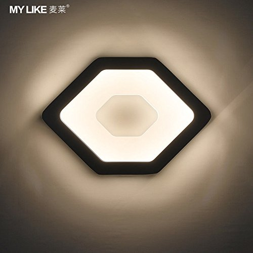 JJZHG Wandlamp, waterdicht, wandverlichting, led-wandlamp, trappen, gang hal, nachtlampje, wit daglicht, bevat: wandlamp, stoere wandlampen, wandlampen, design