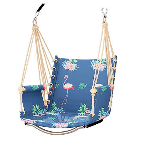 Nurth Outdoor Patio Tree Swing Hammock Flamingo Waterproof Oxford Cloth,Garden Swing Hanging Chair,for Easy Hanging Patio or Lawn Indoors Garden Chair Load 330Ib (Black and White Circle)