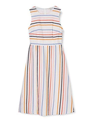 Esprit Damen Kleid, 050EE1E326, Weiß(100/WHITE), 36