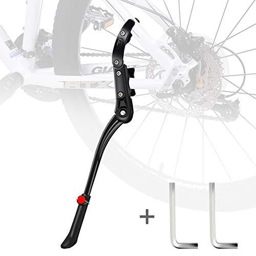 Pata de Cabra Bicicleta,DIAOCARE Aleación Ajustable Lateral de Bicicleta con pie de Goma para 24