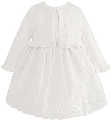 American Princess Mädchenkleid Organza Petticoatkleid inkl. Strick-Bolero mit Stickerei in weiß Gr. 128,134,140/146,152 Größe 152