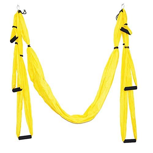 Juego de columpio aéreo de yoga de seda premium para ejercicios de inversión de fitness aéreo antigravedad, flexibilidad mejorada, 1