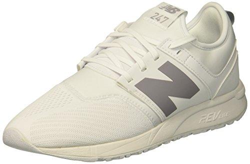 New Balance Women's 247 V1 Sneaker, White, 5 B US