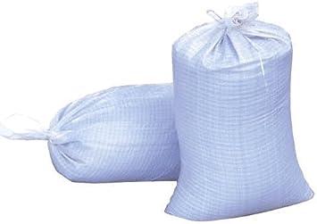 Heavy Duty White Polypropylene Rubbish Sandbags Flood Defence Bags Builder 50 Qty// 60x 102cm Gardening 24 x 40 Transporting