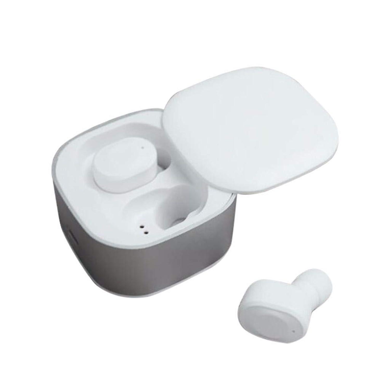 Bluetoothヘッドセット GW17スマートブルートゥースヘッドセット TWSワイヤレスBluetoothヘッドセット5.0ヘッドフォンスポーツミニイヤホンイヤホン (ホワイト)