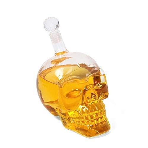 Bargain Crusader Skull Head Vodka Shot Whiskey Wine Drinking Glass Bottle Decanter Skull Shaped Wine Bottle (500 ml, Transparent) …