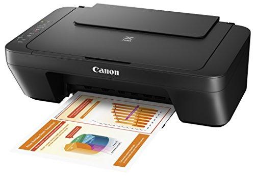 Canon PIXMA MG2555S Drucker Farbtintenstrahl Multifunktionsgerät DIN A4 (Scanner, Kopierer, USB, 4.800 x 600 dpi), schwarz
