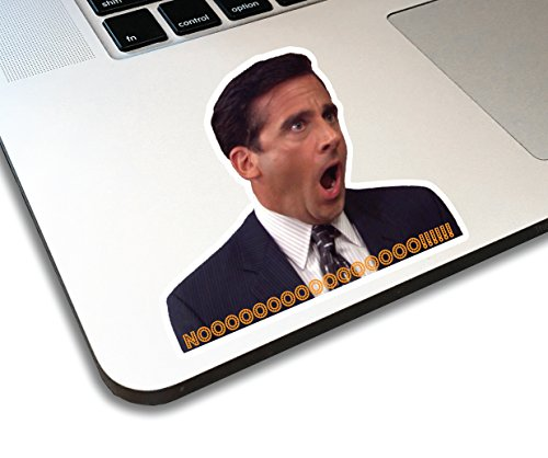 Michael Scott Noooo! Funny Sticker Vinyl Sticky for Laptop, Journal,Wall or car