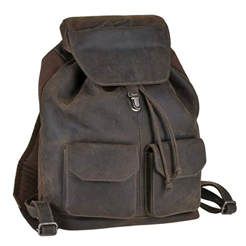 Greenburry Rucksack Leder Vintage Revival Limited 32x36cm Damen Herren Backpack Daypack braun antik Tobacco