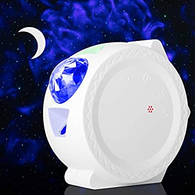 Kidwill Starry Sky Projector Light,Laser Projector LED Nebula Cloud With 9 Lighting Modes,4H Auto-Off,Touch Control?Voice-activated,Ideal Gift for Party Game Room Home Theatre Night Light Ambiance