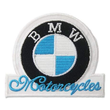 B.M.W. MOTORCYCLES LOGO 8,9 CM Parche, Parches Termoadhesivos,Parche Bordado Para la Ropa Termoadhesivo