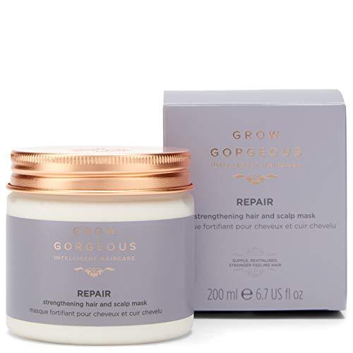 Grow Gorgeous Repair - Maschera rinforzante per capelli e cuoio capelluto, 200 ml