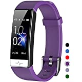 Mgaolo Fitness Tracker with Blood Oxygen SpO2 Blood Pressure Heart Rate Sleep Monitor for Men Women,IP68 Waterproof Activity Tracker HRV Pedometer Health Smart Watch for Fitbit Android iPhone (Purple)