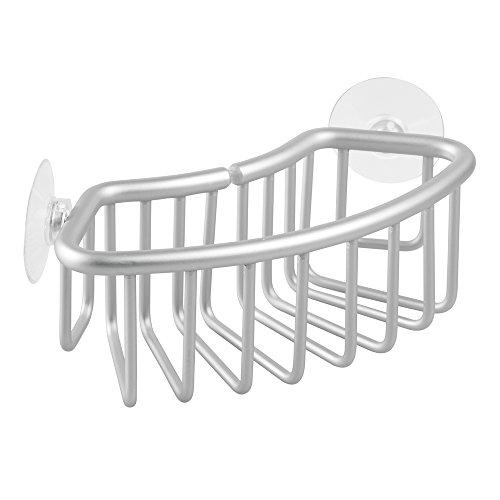 Interdesign Kitchen Sink Protector Flatware Organizer And Sponge Holder Clear Brickseek