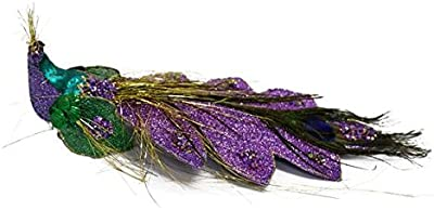 "Renaissance 2000 Inc 11""X5.9""X3.1"" Box of 12 Purple Peacock, 1 Piece"