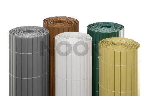NOOR Sichtschutzmatte PVC Balkonblende Sichtschutz Rollenlänge 3m :ca. Größe 1,00x3 m Farbe Bambus