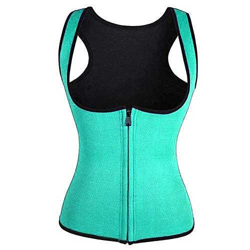 PerGrate 2020 Fashion Creative Ladies Vest, Vest Corset Fitness Body Shaper,Women Waist Trainer Workout Slimming Tops, Women Zip Sports Vest, Black, Blue, Purple, Rose Red and Green