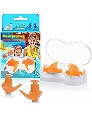 Hearprotek Natación Tapones para los oídos, 2 Pares Tapones de Silicona Reutilizables a Prueba de Agua para Nadadores duchas de baño y Otros Deportes acuáticos Tamaño para niños