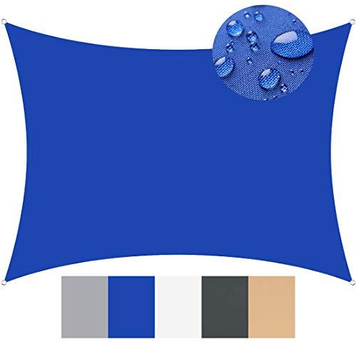 clasificación y comparación Toldo vela 3 x 5,5 m de tela, 95% de protección UV, pantalla con vela cuadrada para casa