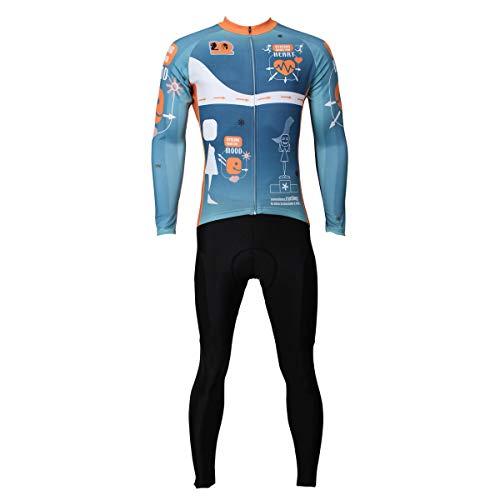 LMJ-Sweatshirt Maillot de Ciclismo de Verano y Pantalones Acolchados de Silicona 3D...