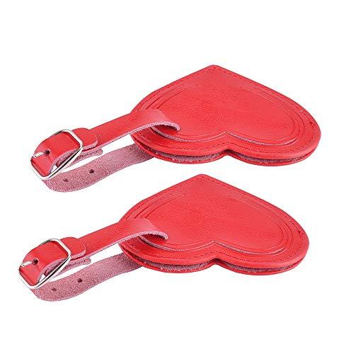 AVIMA Best Premium Handmade Leather Small Heart Luggage Travel ID Bag Baggage Suitcase Tags 2pcs Set...