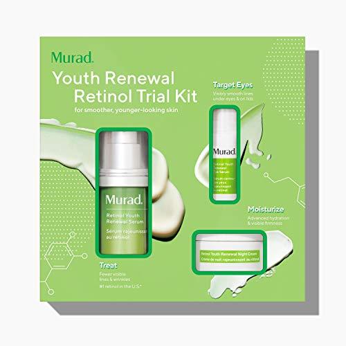 Murad Youth Renewal Retinol Trial Kit – Anti-Aging Retinol Youth Skincare Set with Trial Size Retinol Youth Renewal Serum for Face, Retinol Eye Serum & Retinol Night Cream - Anti-Aging Creams Kit