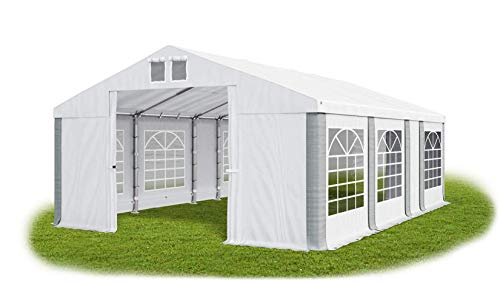 Das Company Marquee 5x7m waterproof white-grey modular Tent Heavy-Duty PVC 580g/m² Tarpaulin Gazebo Summer MS/SD