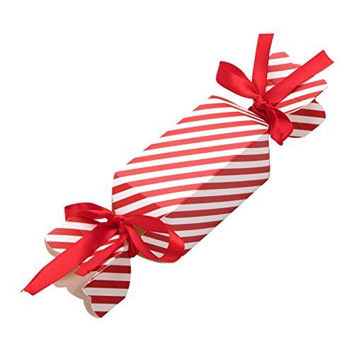 Vidillo Geschenkboxen Set Weihnachten, 50 Stück Süßigkeiten Form Deko Plätzchen Geschenkbox mit 100 Stück Seil, DIY Geschenk Kuchen Xmas Party Taschen Geschenk Party Dessert (Small)