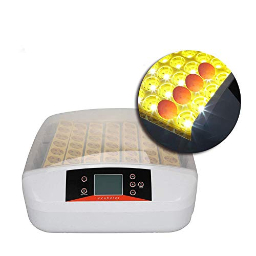 Iglobalbuy 56 Digital Chicken Egg Incubator Hatcher Supply Fully Automatic Egg Turning Temperature Control with Testing Light